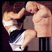 боксерская груша в виде человека