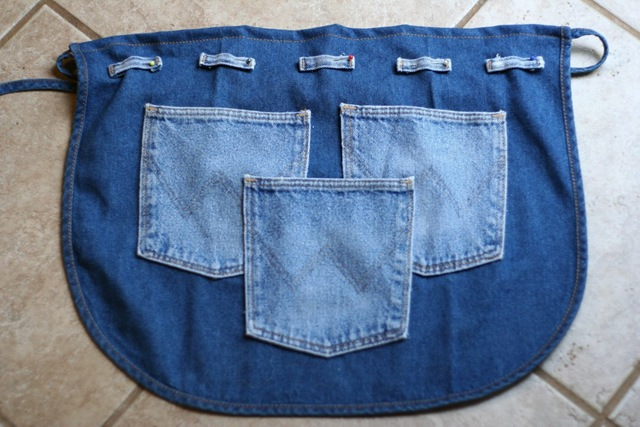 Передник из старых джинсов своими руками мастер класс 37