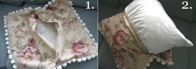 Наволочки на диванные подушки своими руками фото