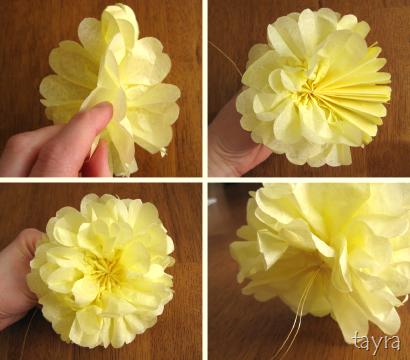Сделать салфетку под цветы