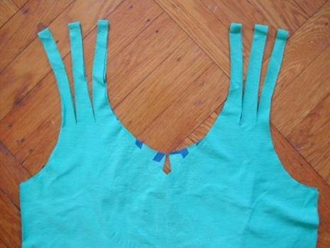 Как из футболки сделать майку с косичками