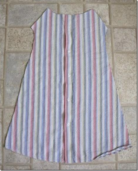 Как сшить из мужской сорочки детское платье