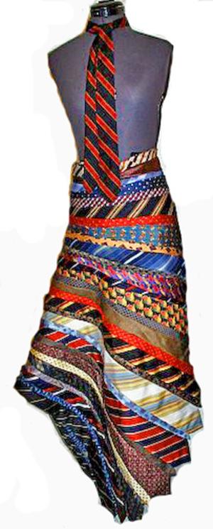 Платье из галстуков