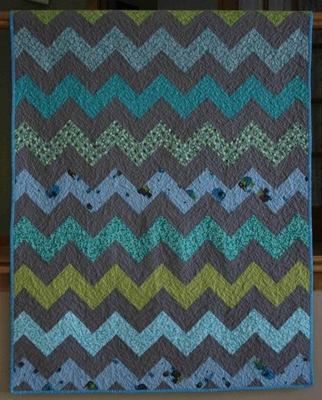 Как сшить одеяло в стиле пэчворк с узором зиг-заг