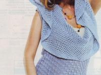 Пуловер нежно-голубого цвета