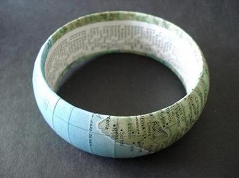 Как сделать браслет из географической карты