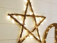 Как сделать из веток новогоднюю звезду