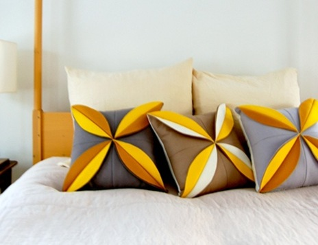 how to sew a cushion with petals