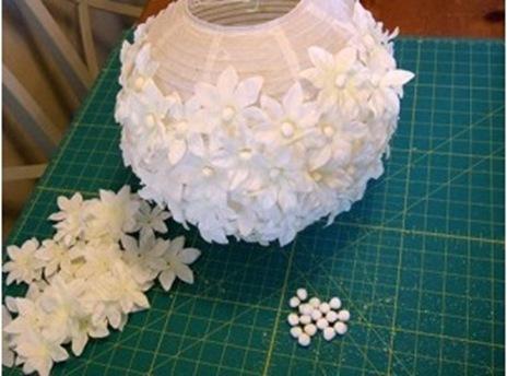 Декорирование бумажного фонарика своими руками.  Дом.