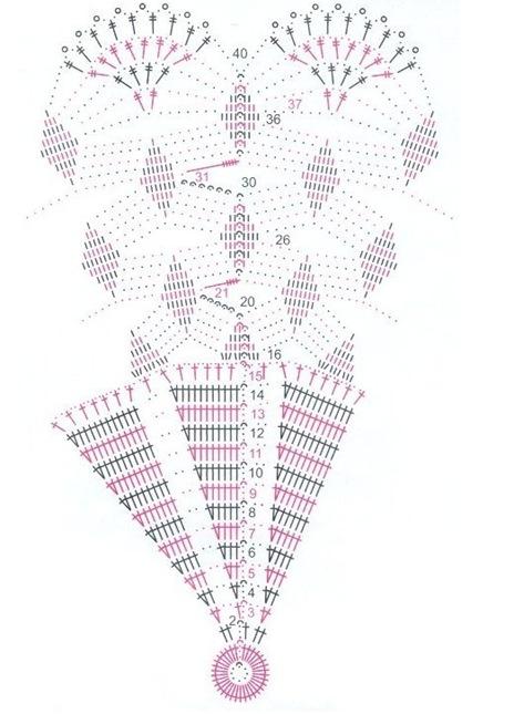 салфетка из мотивов крючком-схема расположения.