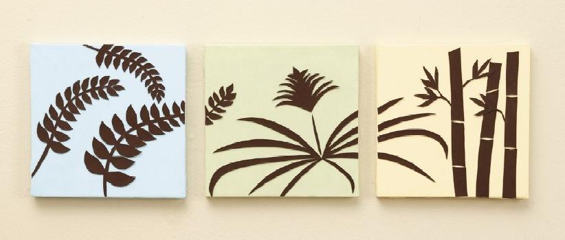 Как украсить стену бумагой