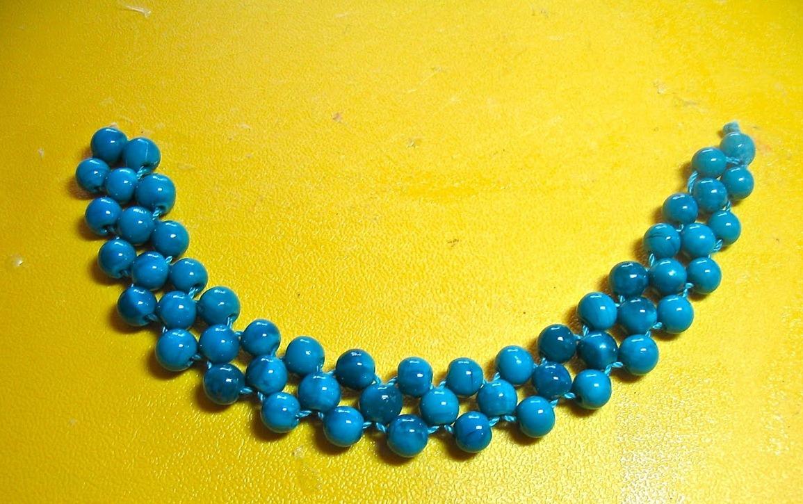 Ожерелье из бусин своими руками фото