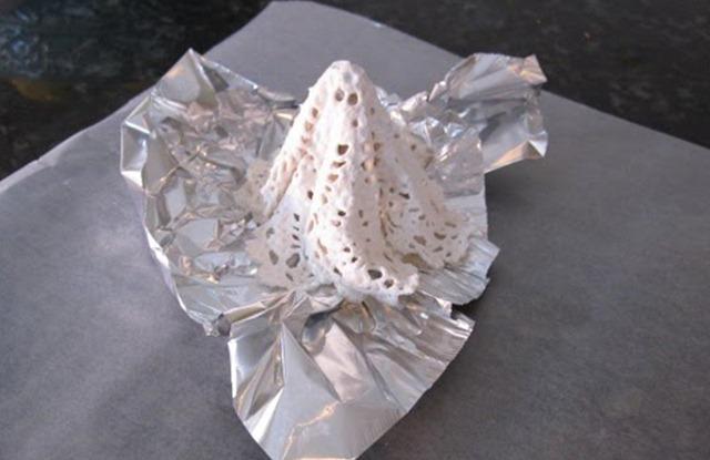 Как сделать из салфетки цветок схема фото 670