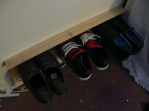 Как сделать настенный держатель для обуви