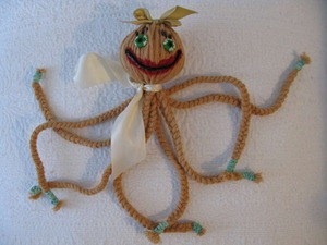 Как сделать осьминога из веревки или шерстяных ниток