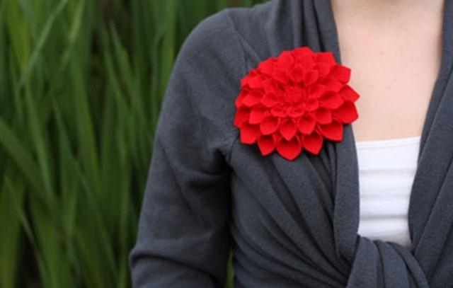 Мастер-класс по броши-цветка из фетра.