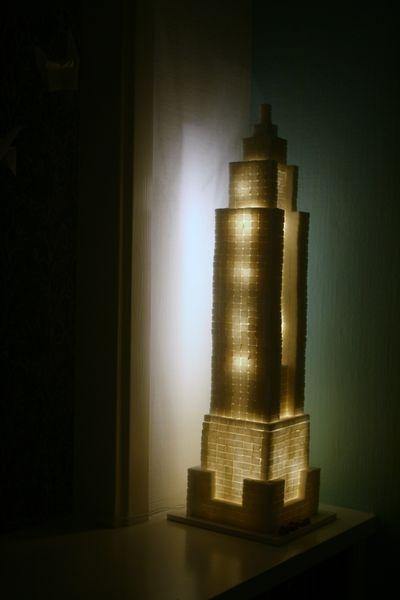Как сделать светящийся изнутри небоскреб