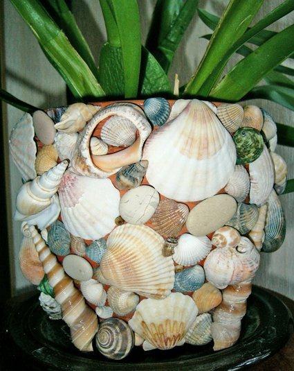 поделки из морских ракушек.