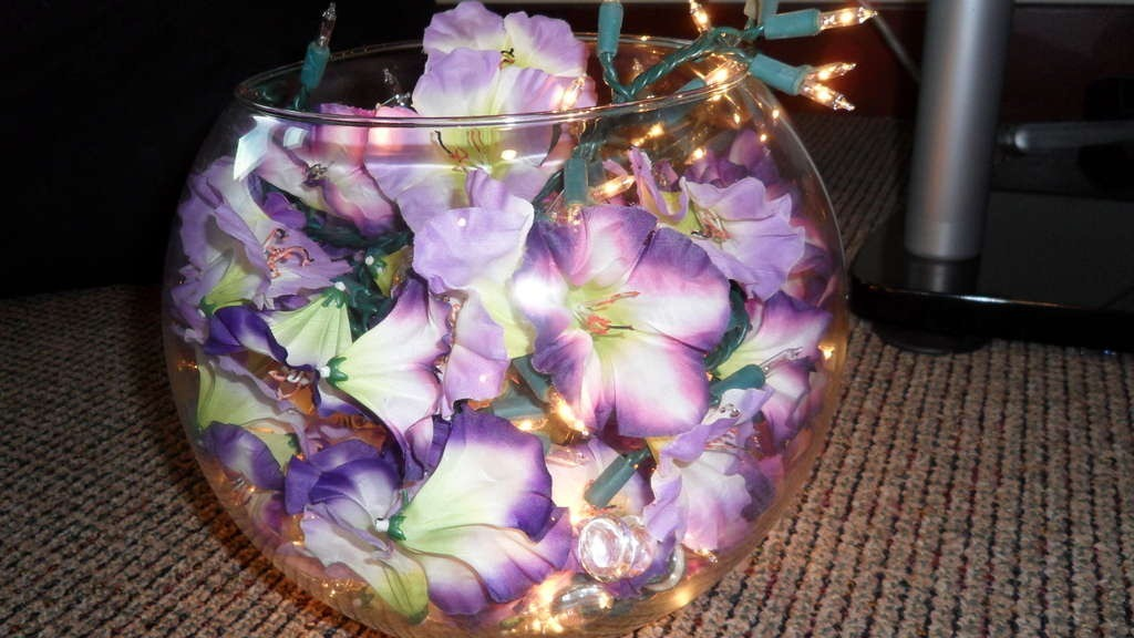 Как сделать цветочную лампу