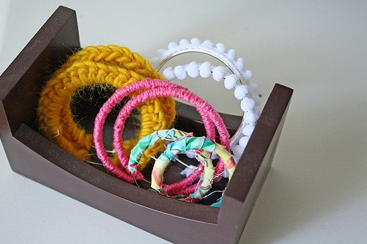 jewelry crochet : round ring, earring, bracelet