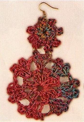 Рерьги схемы, большие драконы из бисера схема, вязаные сережки спицами.