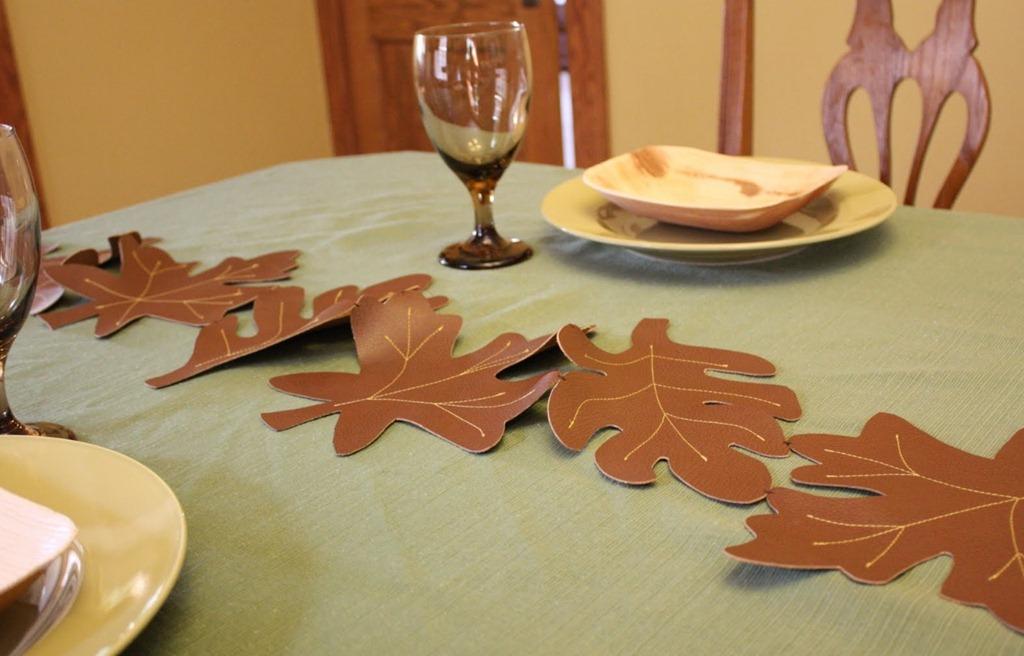 вязание дубовых листьев