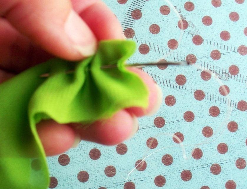 Как сделать серьги с оборками