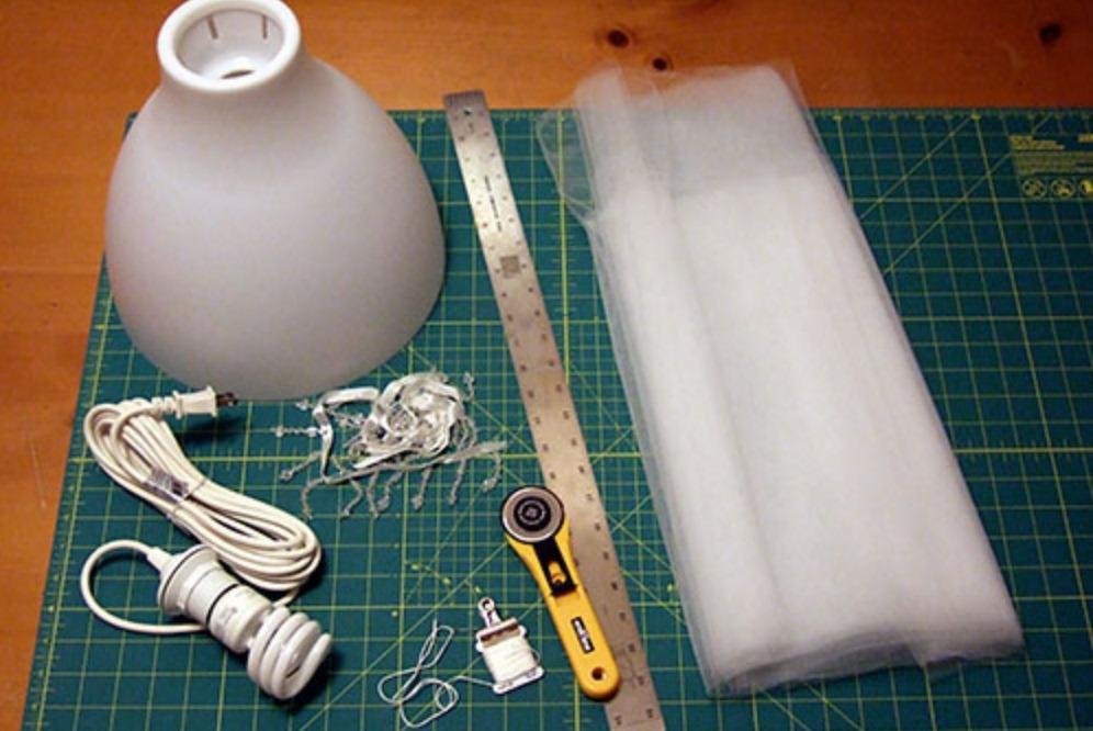 Как сделать абажур для светильника фото