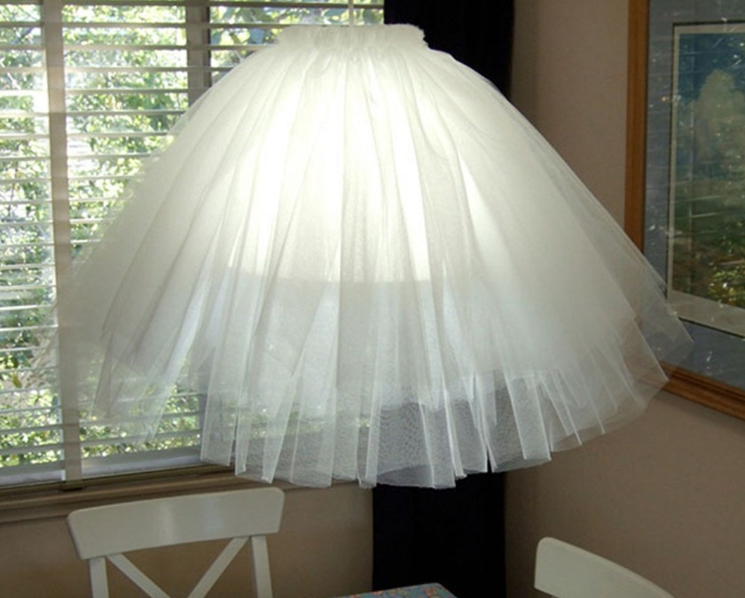 How to make a lampshade skirt