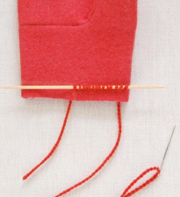 Как сшить варежки из фетра