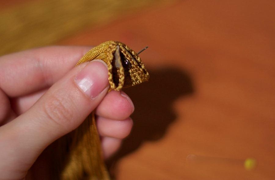 Как сделать гламурные длинные сережки