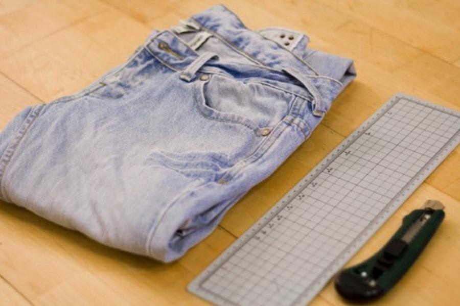 """Как сделать рваные джинсы в стиле  """"панк """" ."""