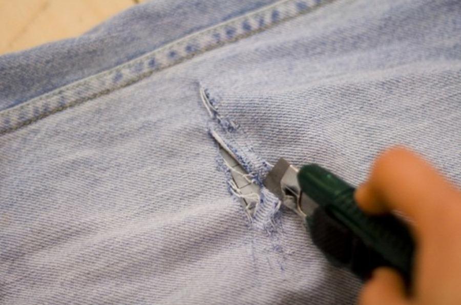 Как сделать прорезь для руки 659