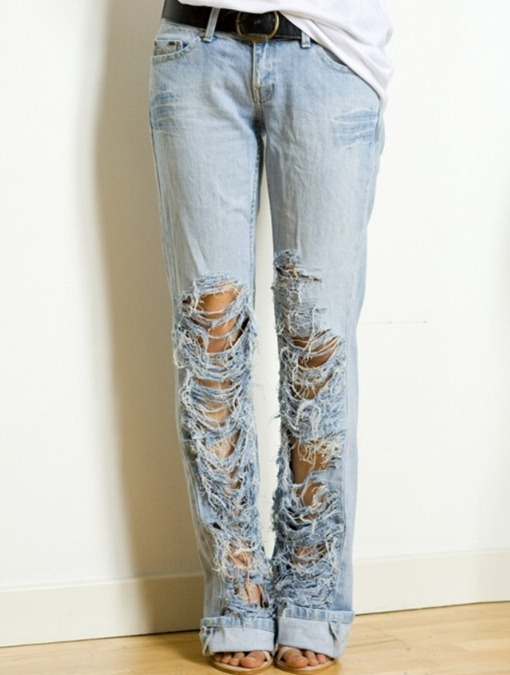 jean fashion: how to make ripped jeans