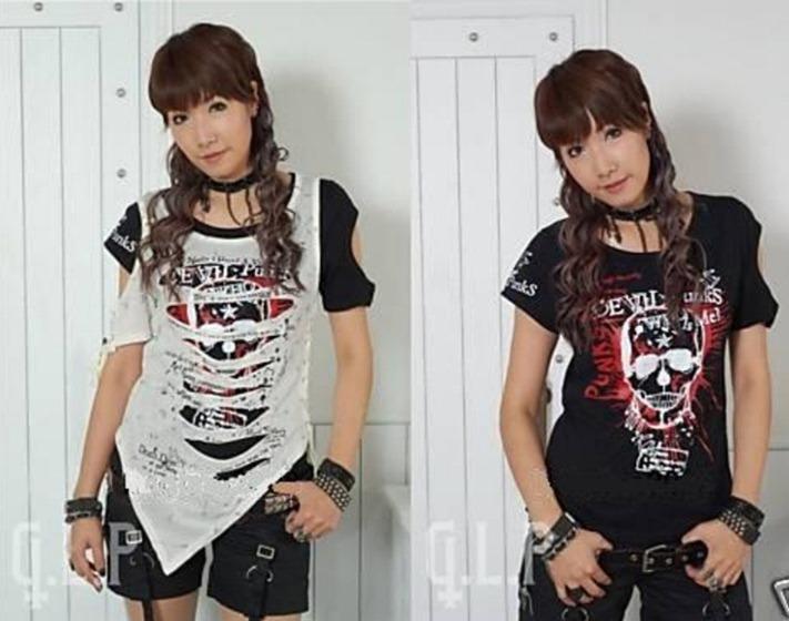 Летняя женская одежда недорого, рваные майки ... футболки с паетками...