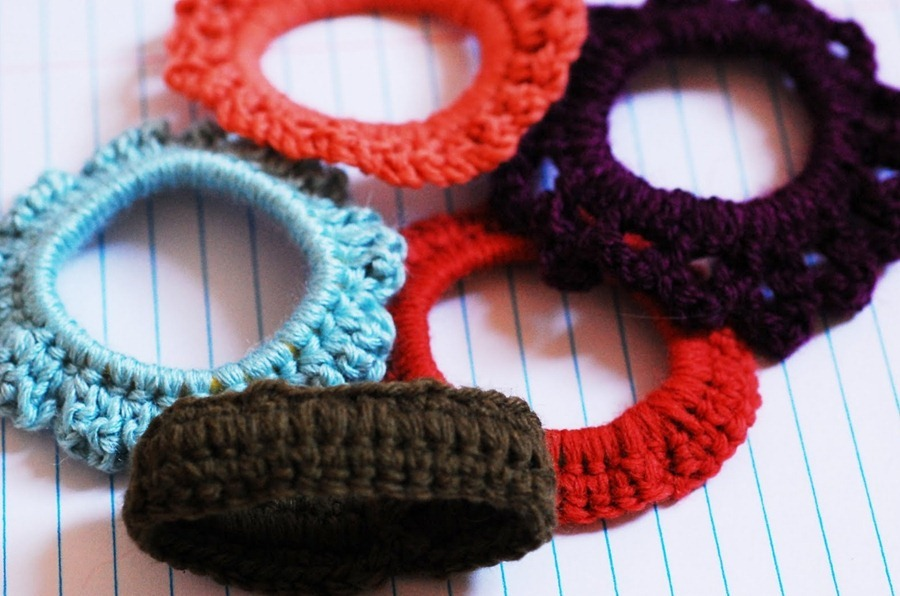 how to crochet hair elastic