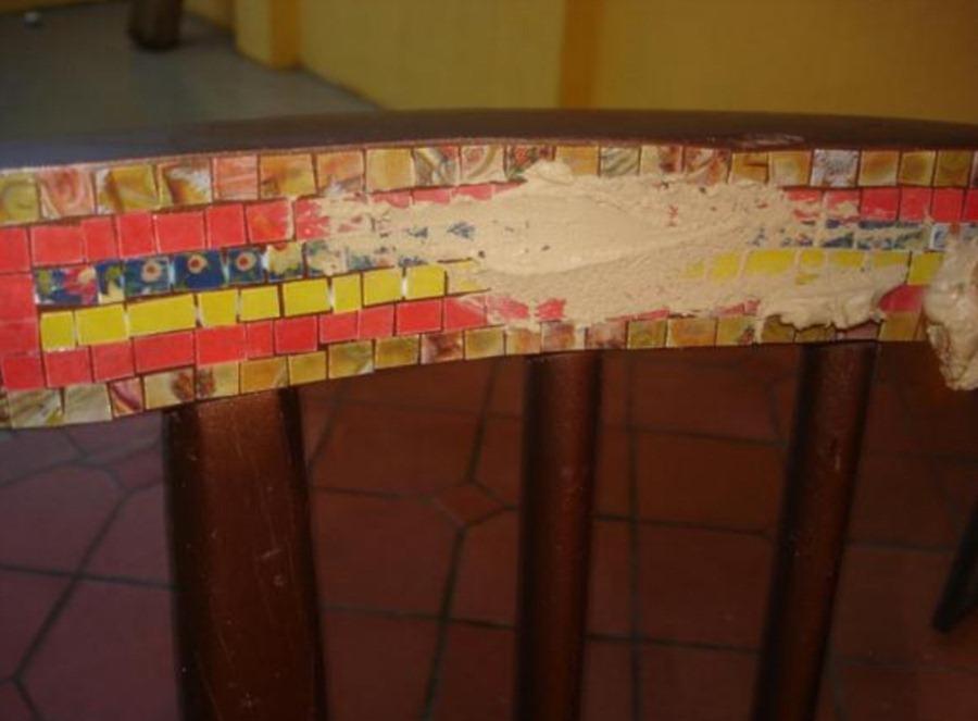 Украшение мозаикой из CD-дисков