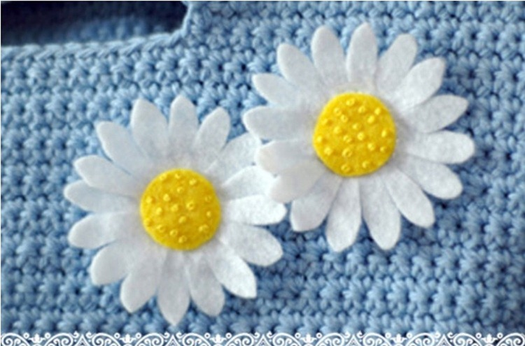 how to make felt daisies