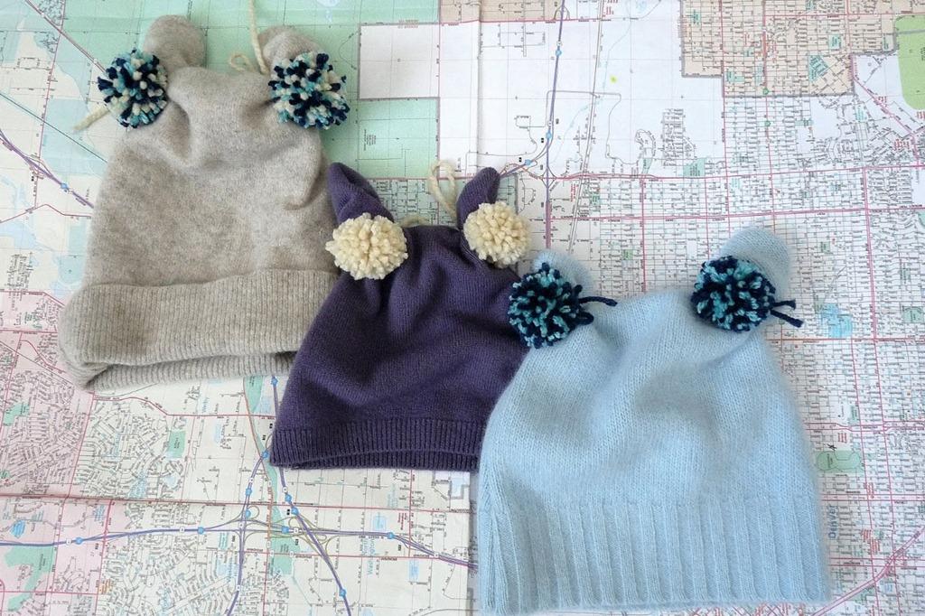 赋予旧毛衣一个新的生命7:改成儿童帽子(大师班) - maomao - 我随心动