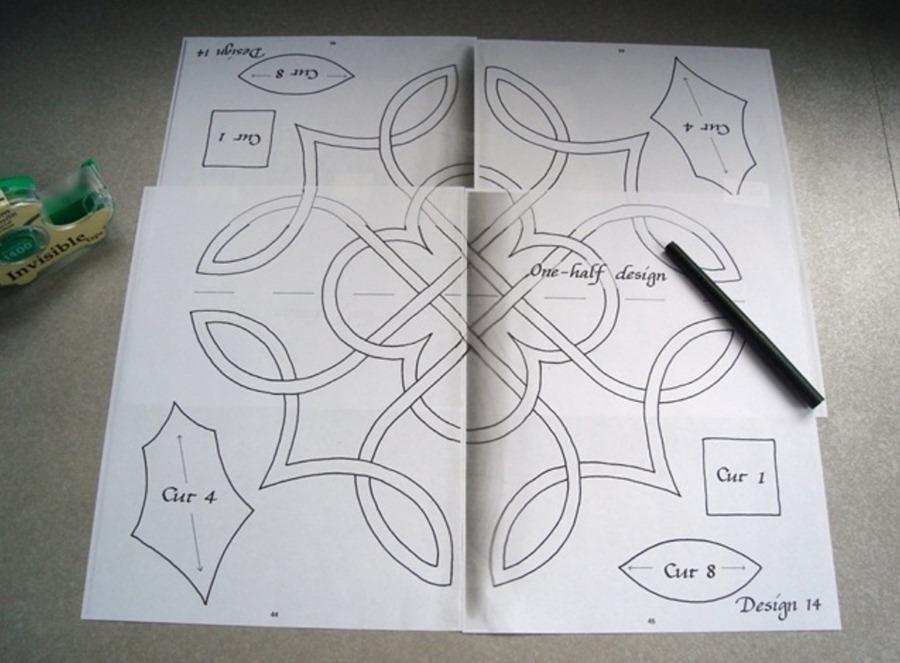 Как сделать кельтский дизайн диванной подушки