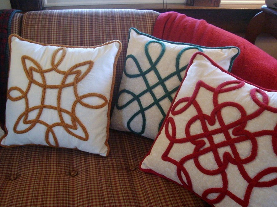 how to make a celtic design cushions