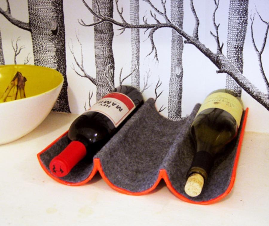 Как сделать подставку для вина