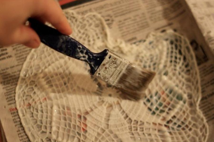 Как сделать люстру из салфеток