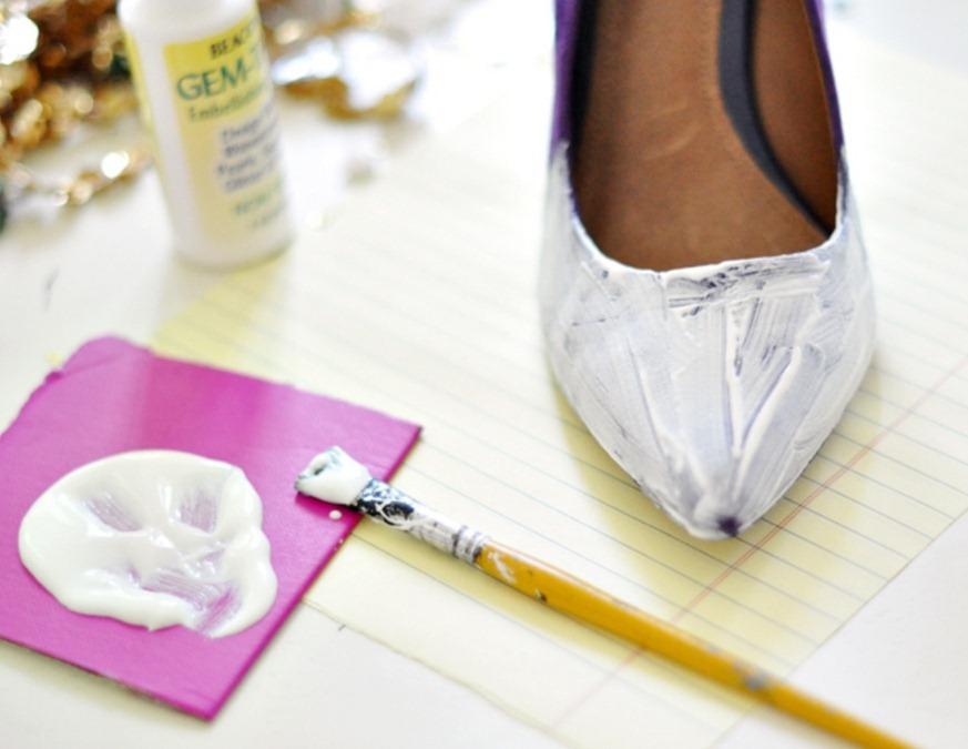 Как сделать блестящие туфли для праздника