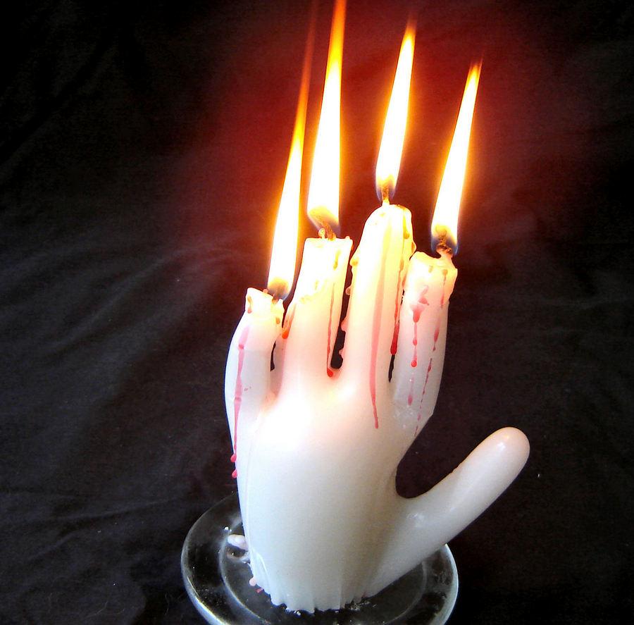 Как сделать горящую руку