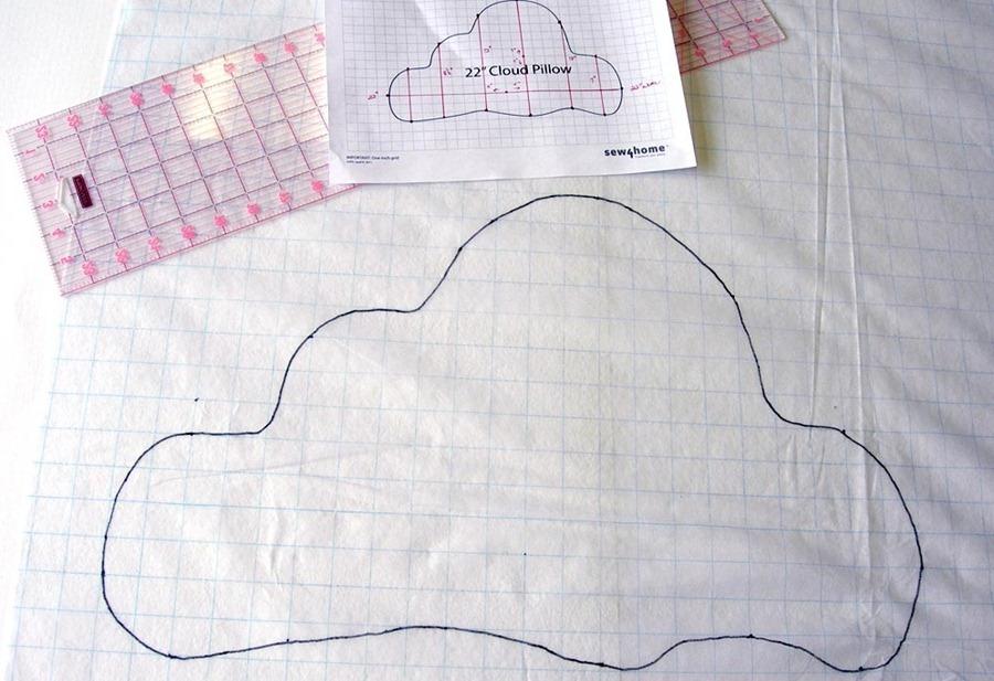 Как сшить подушку-облачко