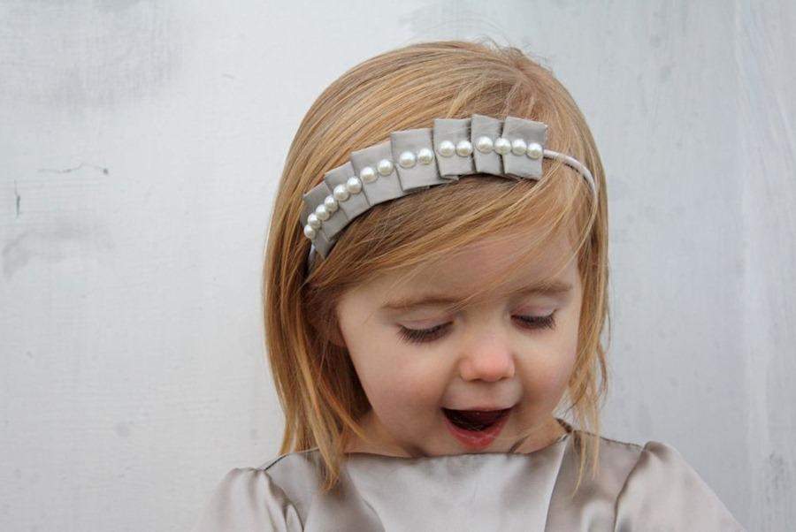 Как сделать нарядную повязку для малышки
