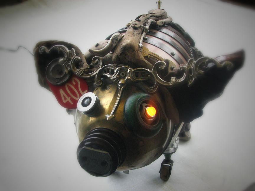 Скульптуры из металлического лома Натали Трепаньер (14)