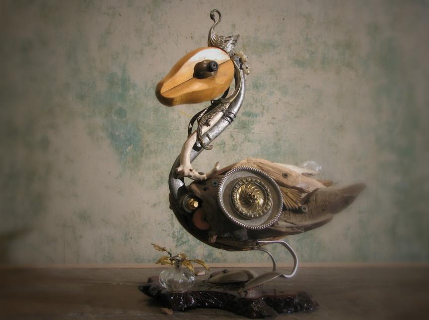 Скульптуры из металлического лома Натали Трепаньер (13)