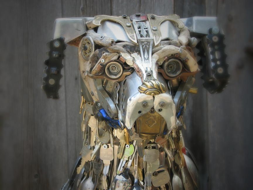 Скульптуры из металлического лома Натали Трепаньер (12)